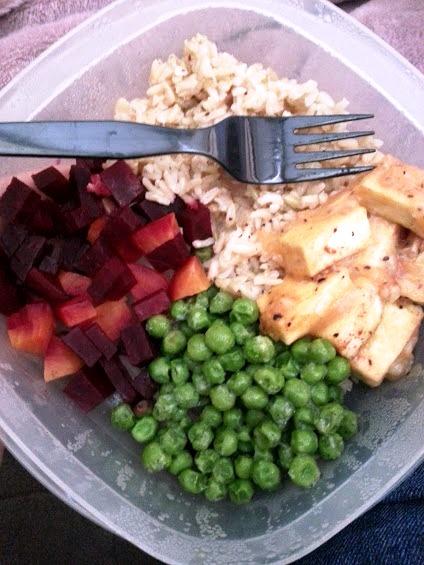 Beets, Peas, Tofu