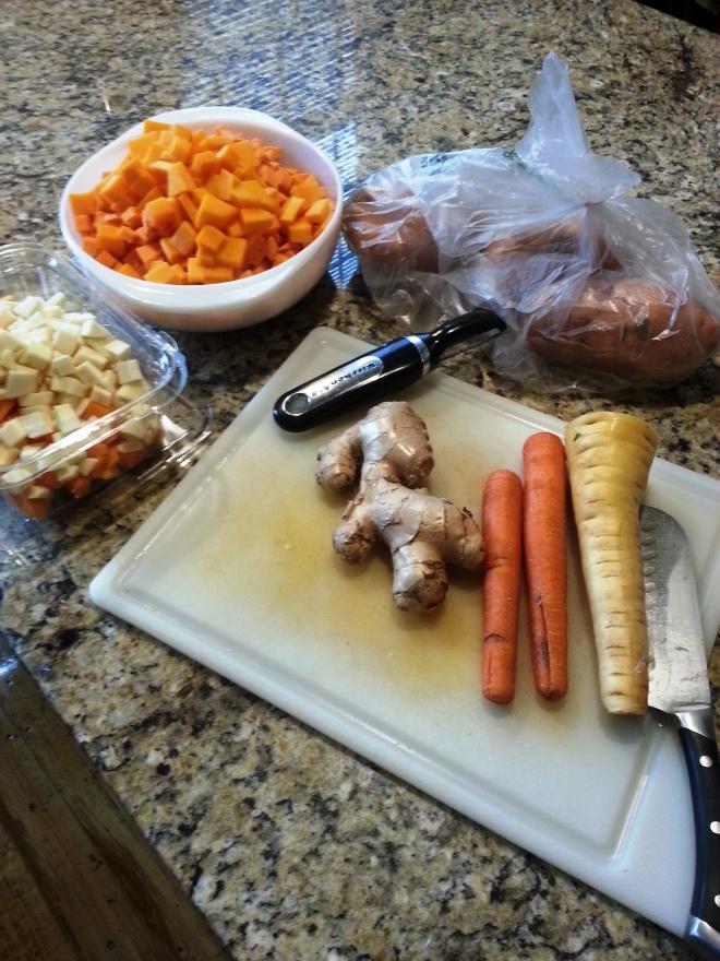 Parnips carrots